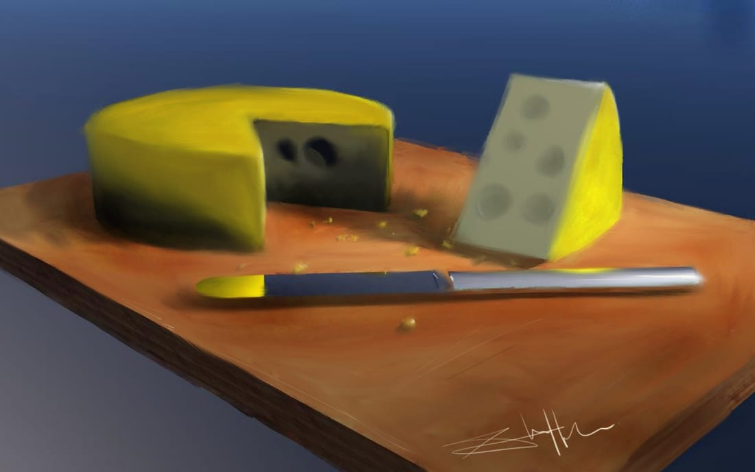 illustration of cheese board