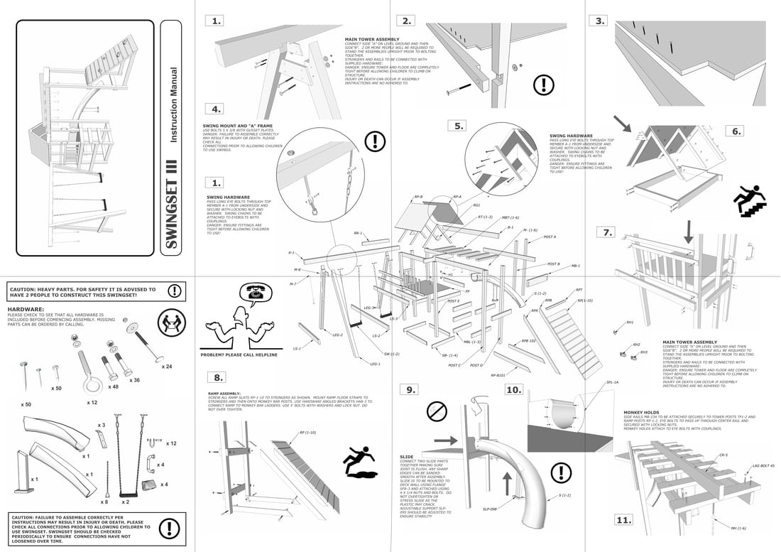 illustration of complex foldout instructions